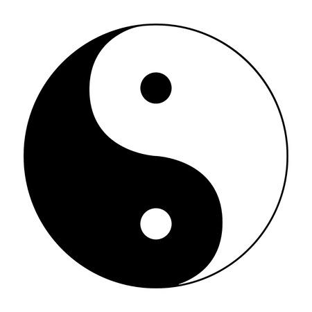 Ying yang symbol of harmony and balance on white background Illustration