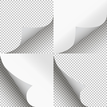 curl: Pages curl set stylish illustration vector design Illustration