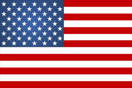 Estilo plano de ilustración de vector de signo de bandera americana