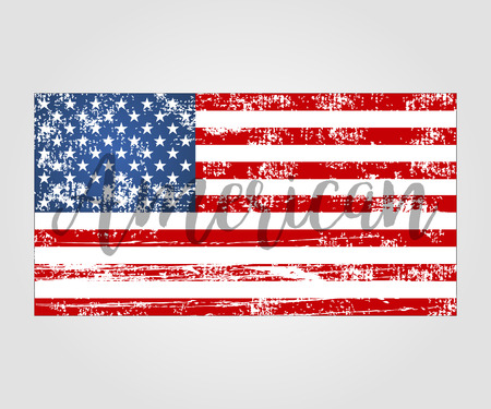 grunge banner: Flag american grunge style a vector illustration Illustration