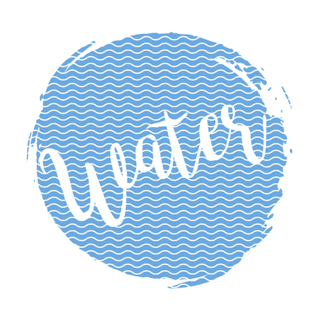 ink spot: Inscription water on the ink spot in line grange