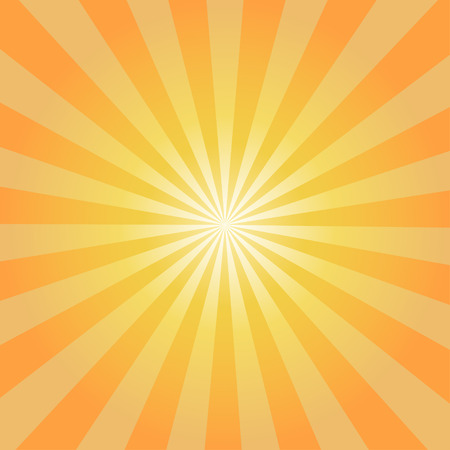 Retro orange background ray and stylish illustration 矢量图像