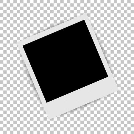 Photo frame on isolated background. Vector illustration