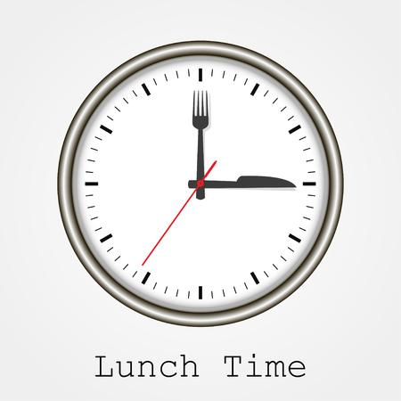 Sehen Sie beim Mittagessen auf einem weißen Hintergrund