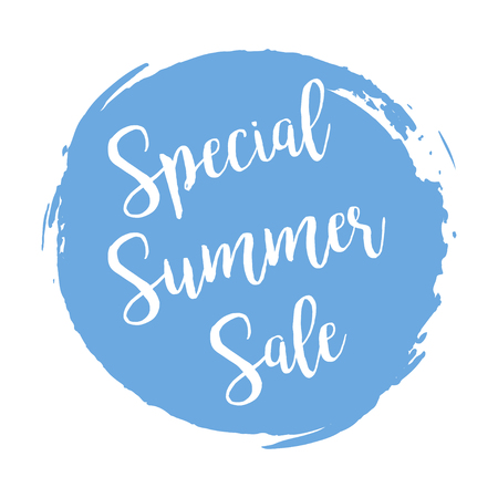 summer's: Special Summers Sale grunge style blue colored on white background