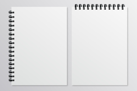 paper sheets: Empty sheets of paper with the shadow Mockup style Illustration
