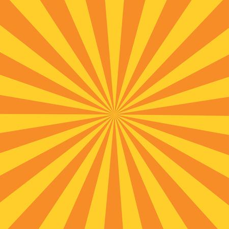 Retro orange background ray and stylish illustration Illustration