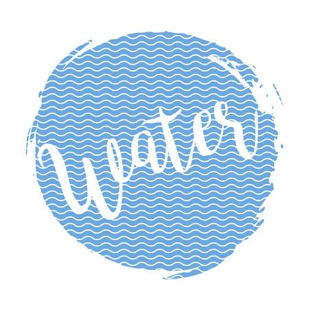grange: Inscription water on the ink spot in line grange