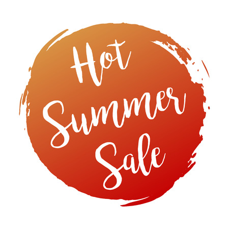 summer's: Hot Summers Sale grunge style red colored on white background