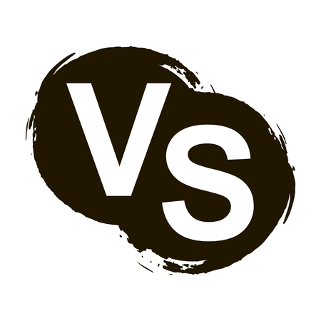 versus: Versus letters or vs logo isolated on black splash, vector illustration Illustration