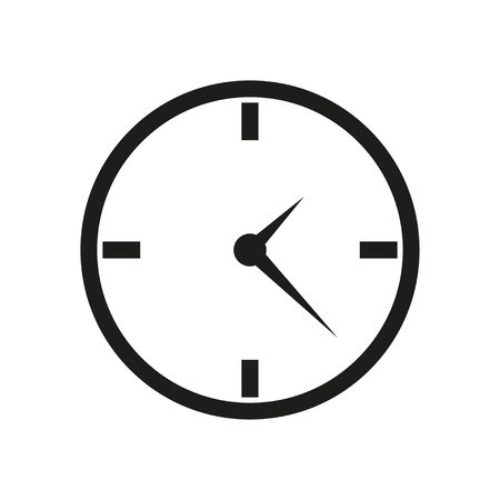 hands  hour: Clock icon flat design on white background Illustration