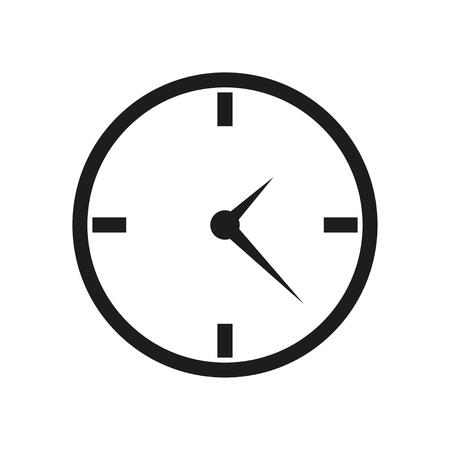 cronometro: icono del reloj diseño plano sobre fondo blanco