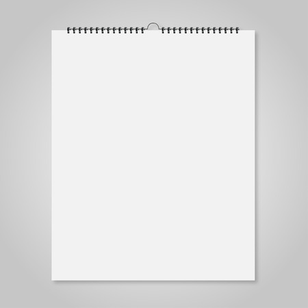 spiral binding: Blank wall calendar, Mockup style card for your design