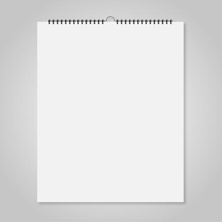 El calendario de pared en blanco, tarjetas estilo maqueta para su diseño Foto de archivo - 61056133