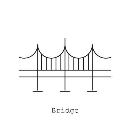 viaduct: Bridge icon in the flat style on a white background