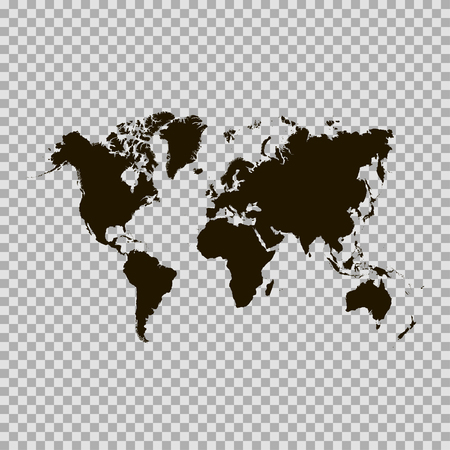 paper art: Black similar world map. World map blank. World map vector. World map flat. World map template. World map paper. World map infographic. World map clean. World map art. World map isolated Illustration