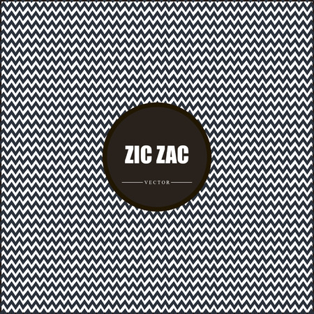 zig: Zig zag vector chevron black and white tile pattern
