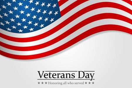 honoring: Veterans Day. Honoring all who served. Usa flag