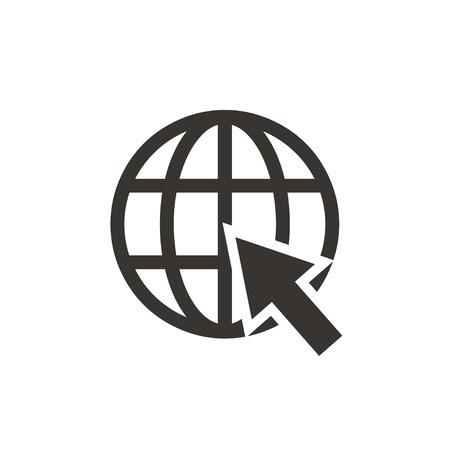 webhost: Go to web Icon Illustration