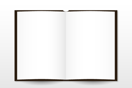 pocketbook: Paper notepad is empty, mockup style vector