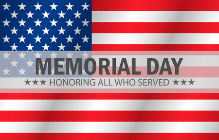 Honoring all who served, Happy Memorial Day, vector illustration Illustration