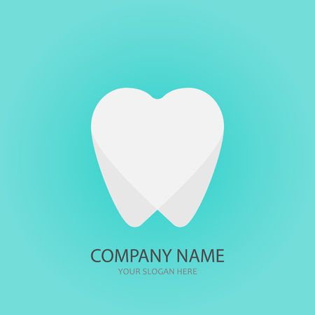 Dental hearth logo template, vector illustration