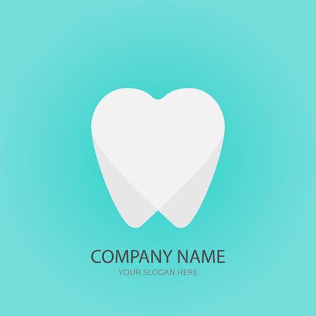 Dental hearth logo template, vector illustration