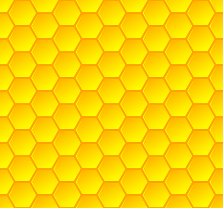 Honeycombs stylish seamless, background and vector illustration