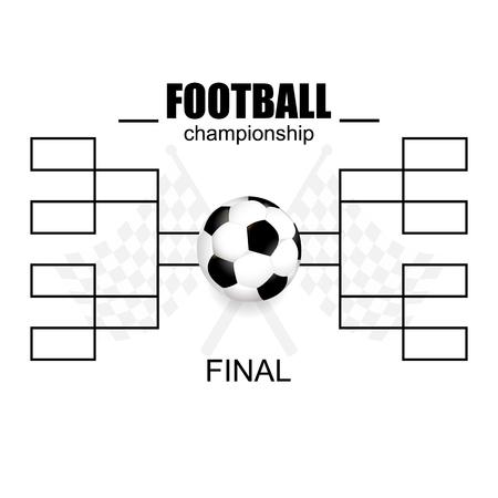 Campeonato de fútbol en blanco. ilustración vectorial, un diseño plano.