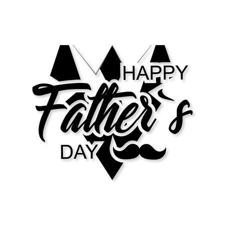 joyful: Happy fathers day. stylish design and a flat design