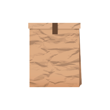 pouch: Package paper with shadow on a white background