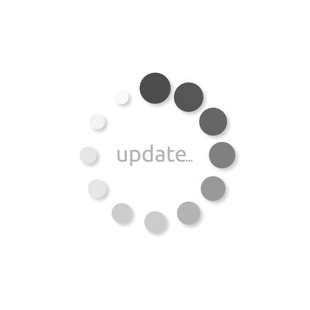 Icona Installa aggiornamento, design in stile su sfondo bianco