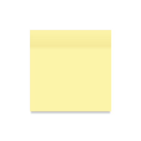 Sticker paper yellow colored on a white background, vector