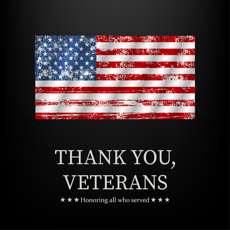 Illustration for veterans day, thank you, vector graphic