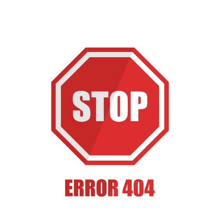 SIgn stop on a white background in flat style, vector