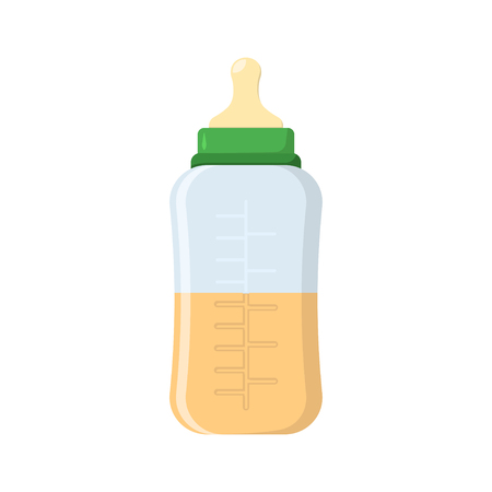 Baby bottl in flat style on a white background, vector