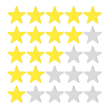 Star set in flat style on a white background, vector