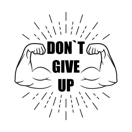 Be strong, dont give up with burst, vector