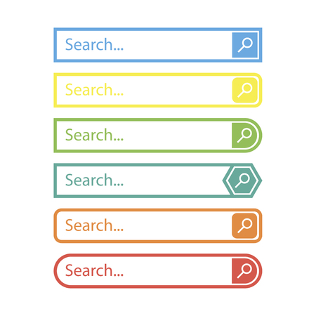 Search bar vector design element, in flat style on a white background