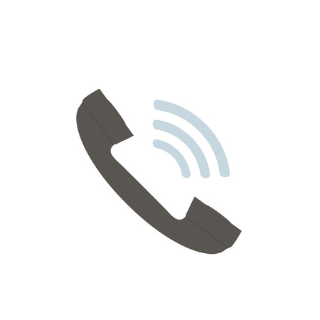 Phone icon in flat style on white background, vector