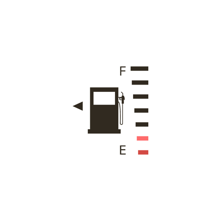 Full fuel gauge icon on a black background - vector illustration