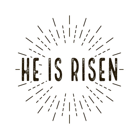 He is risen. celebration day. Happy Easter day. - vector illustration