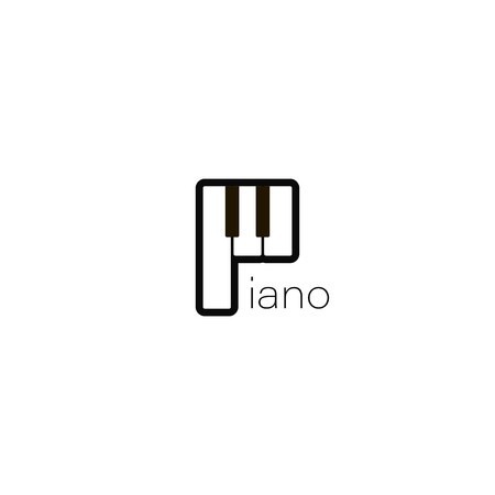 Piano icon. Music design illustration. Piano icon in flat style. Piano musical instrument on white background. vector