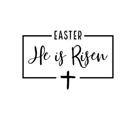 He is risen. Celebration day. Happy Easter day. - vector 일러스트
