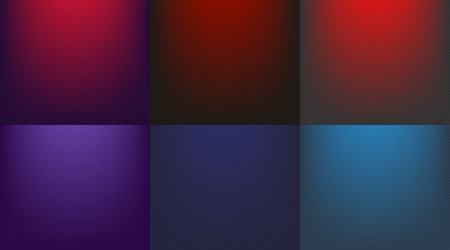 Blue and red background gradient Set. Blue and red radial gradient to black with lines - vector illustration