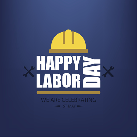 Festa dei lavoratori. Poster felice festa del lavoro. Celebrazione di maggio. Illustrazione vettoriale Vettoriali