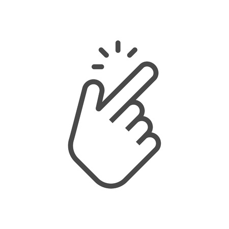 Shap finger icon. Shap finger pointer isolated on white background. Vector illustration