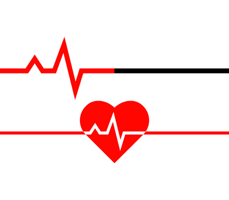Heartbeat icon. Heart beat line in linear style. Medical icon. Vector illustration Иллюстрация