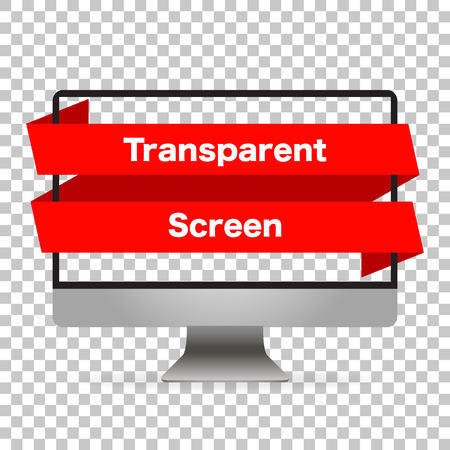 Monitor computer mockup isolated. Screen monitor transparent empy isolated background. Realistic device. Vector illustration