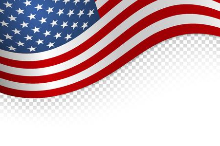 Flag american background. Flag isolated on white background. Vector illustration